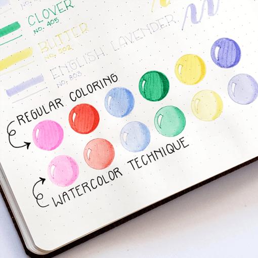 Dingbats* Atopen dual brush pens - pastel 6