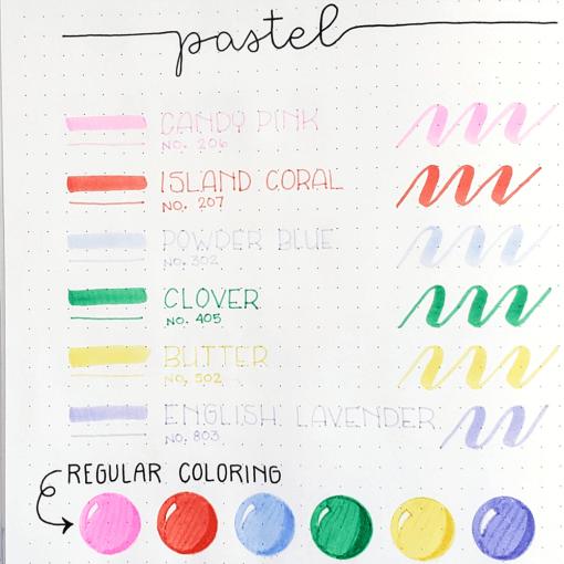 Dingbats* Atopen dual brush pens - pastel 5