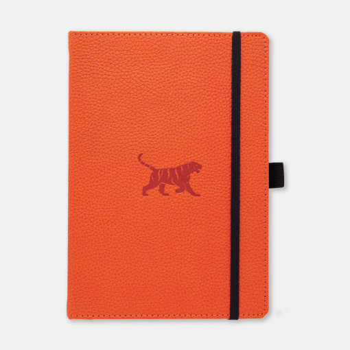 Dingbats notitieboek Wildlife Orange Tiger dotted