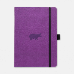 Dingbats notitieboek Wildlife Purple Hippo dotted