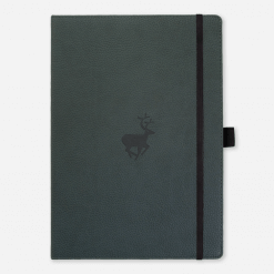 Dingbats notitieboek Wildlife Green Deer dotted A4