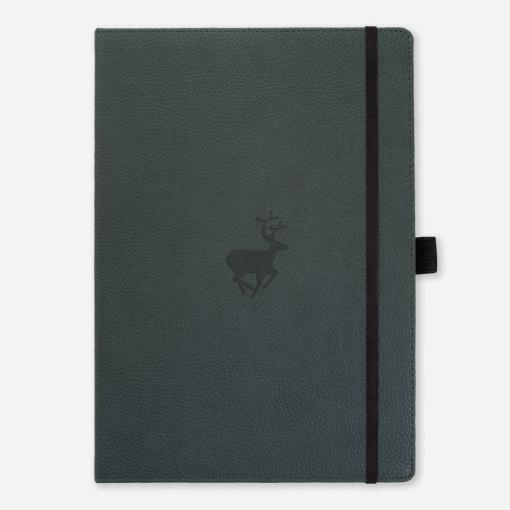 Dingbats notitieboek Wildlife Green Deer dotted A4