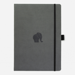 Dingbats notitieboek Wildlife Grey Elephant dotted A4