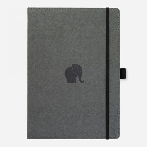 Dingbats notitieboek Wildlife Grey Elephant dotted A4