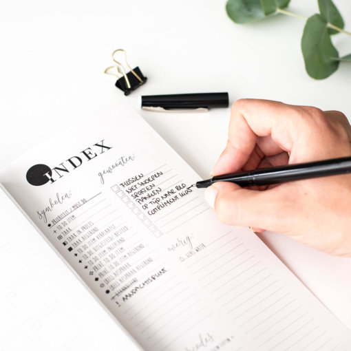 Balans-planner-binnenkant-Index-pagina