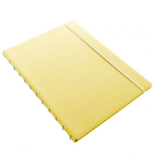 Filofax notitieboek A4 classic pastel lemon 1