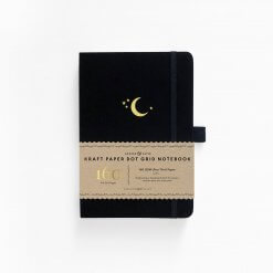 Archer and Olive Kraft paper Dot Grid - Crescent Moon voor
