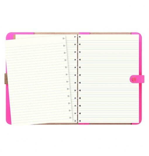 Filofax The Original A5 Notebook Folio Fluor Pink 2