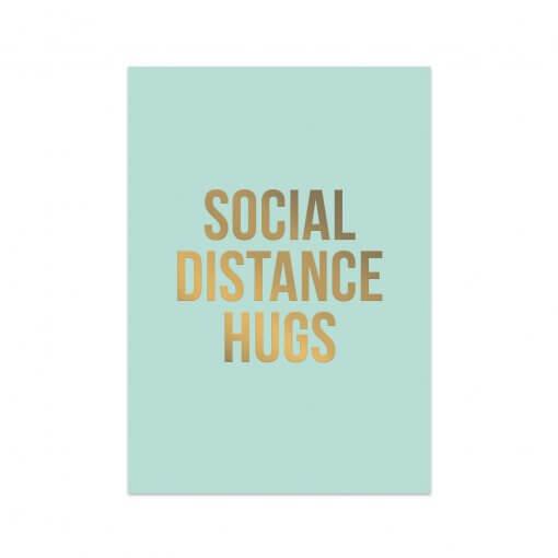 Ansichtkaart Social Distance Hugs
