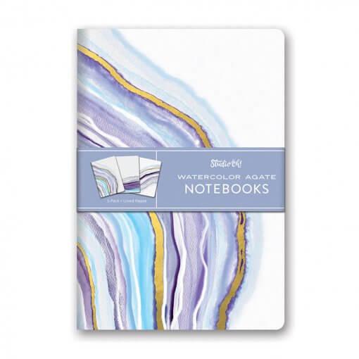 Notitieboekjes trio Watercolor Agate