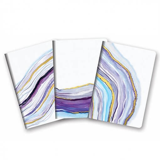 Notitieboekjes trio Watercolor Agate 1