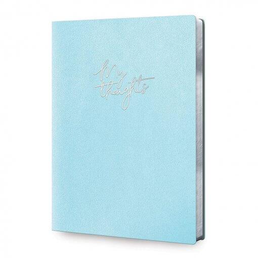 Notitieboek My Thoughts Metallic Blue - Large