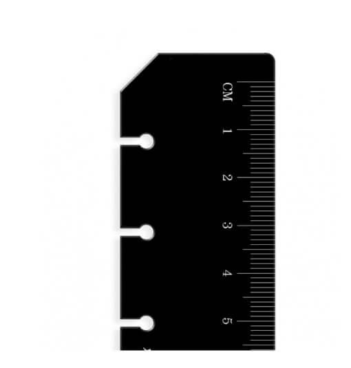 Filofax Liniaal:Bladwijzer Zwart