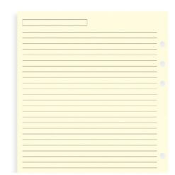 Filofax navulling organizer A5 gelinieerd zacht geel - creme kleurig papier