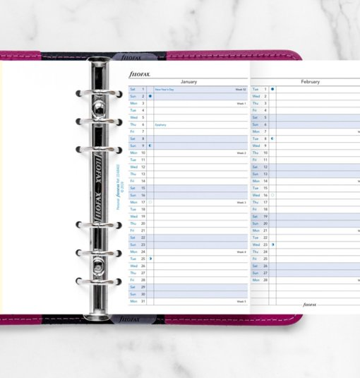Filofax Organizer Personal Year Planner 2022 2