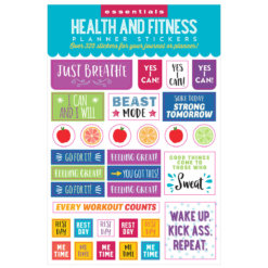 Peter Pauper Health & Fitness Planner Stickers