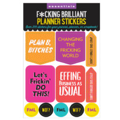 Peter Pauper F*cking Brilliant Planner Stickers