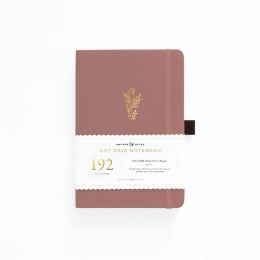 Archer and Olive Notitieboek Dot Grid - Floral Sunset (192 pagina's)