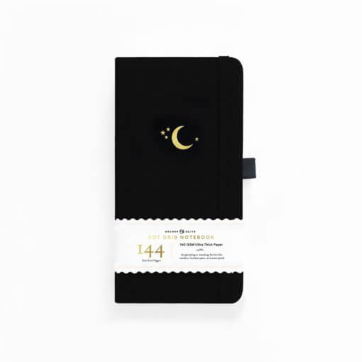 Archer and Olive Traveler's Notebook Dot Grid - Crescent Moon