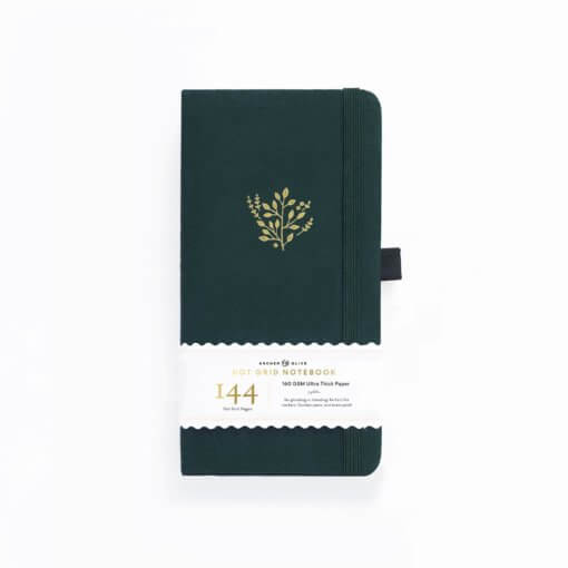 Archer and Olive Traveler's Notebook Dot Grid - Deep Green