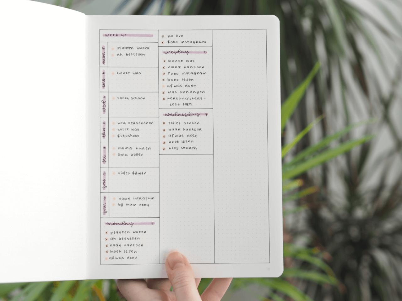 Zo maak je een minimalistische bullet journal