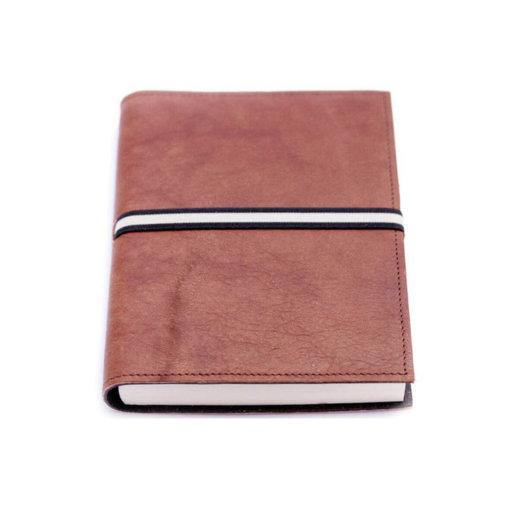 Leren notitieboek Abruzzi Donkerbruin