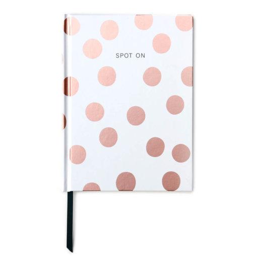 Caroline Gardner Notitieboek - Rose Gold Polka Dot