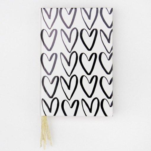 Caroline Gardner Notitieboek - Hearts Ribbon
