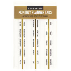 Peter Pauper Monthly Planner Tabs Stickers