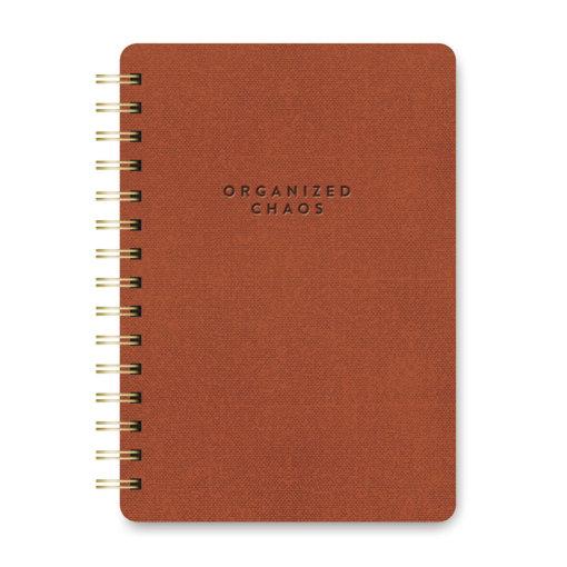 Studio Oh Notitieboek Spiraal Organized Chaos Brown