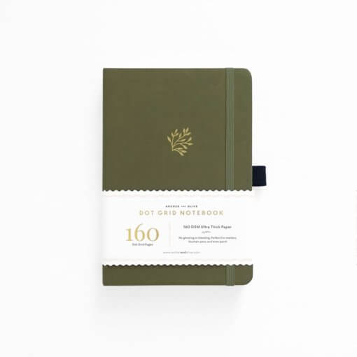 Archer and Olive Notitieboek Dot Grid - Green Leaf