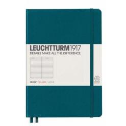 Leuchtturm1917 gelinieerd notitieboek Pacific Green