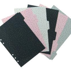 Filofax organizer A5 Confetti Tabbladen