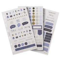 Filofax Stickers Indigo