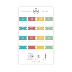 SuccesPlanner Tab Stickers Kleur