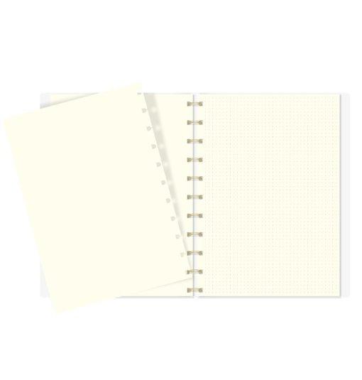 Filofax Notebook A4 Folio Refill Dotted & Blanco Papier 1