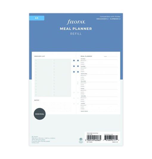 Filofax navulling organizer A5 Meal Planner 3
