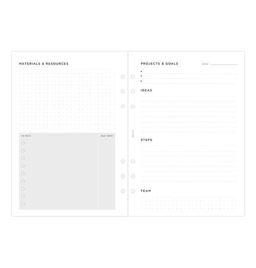 Filofax navulling organizer A5 Projects & Goals Tracker