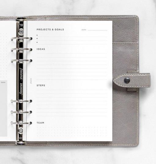 Filofax navulling organizer A5 Projects & Goals Tracker 1