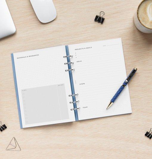 Filofax navulling organizer A5 Projects & Goals Tracker 3
