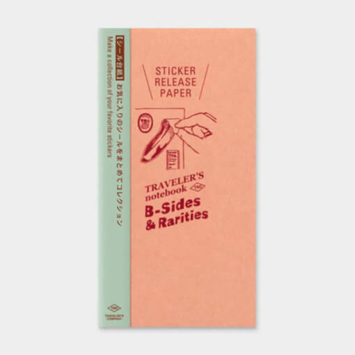 Midori Traveler's Notebook navulling Stickers Release Paper 1