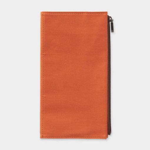 Midori Traveler's Notebook navulling Cotton Zipper Case Orange