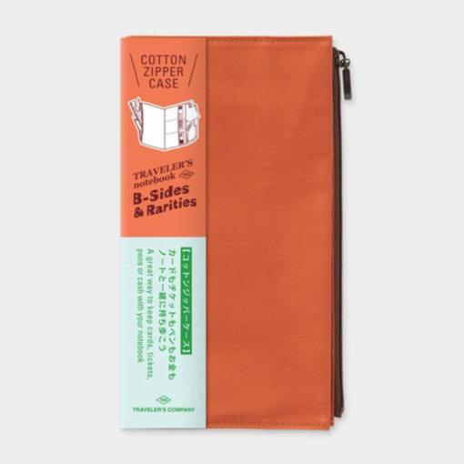 Midori Traveler's Notebook navulling Cotton Zipper Case Orange 1