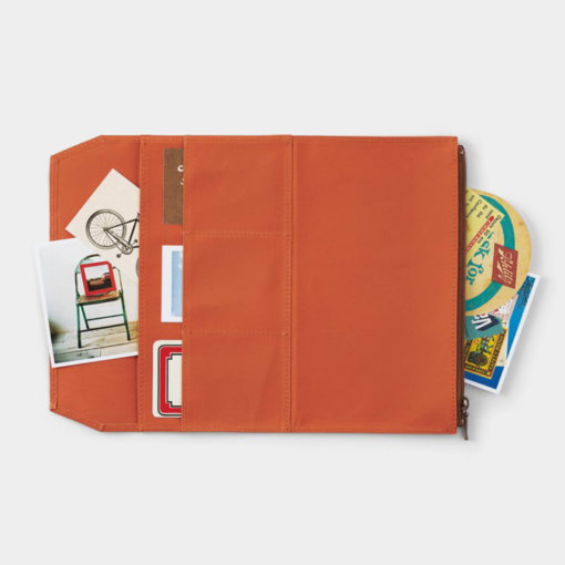 Midori Traveler's Notebook navulling Cotton Zipper Case Orange 2