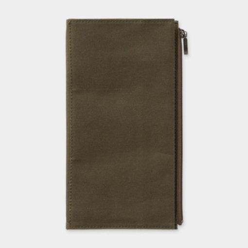 Midori Traveler's Notebook navulling Cotton Zipper Case Olive