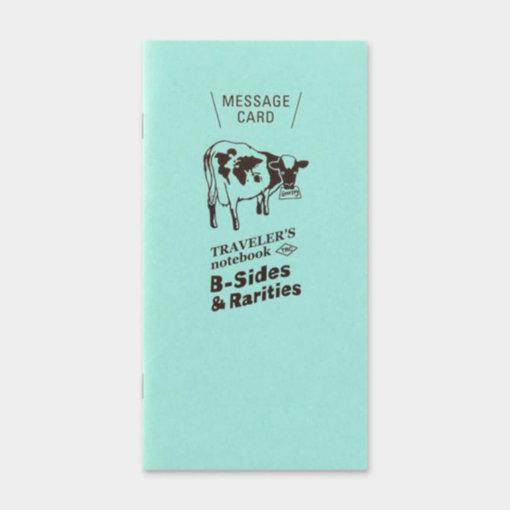 Midori Traveler's Notebook navulling Message Card