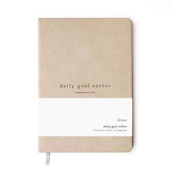 Daily Goal Setter planner tan