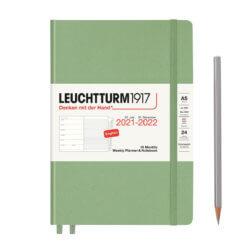 Leuchtturm1917 Weekly Planner & Notebook 18 Months 2021-2022 Sage