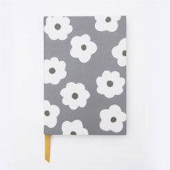 Caroline Gardner Notitieboek - Charcoal Daisy Large
