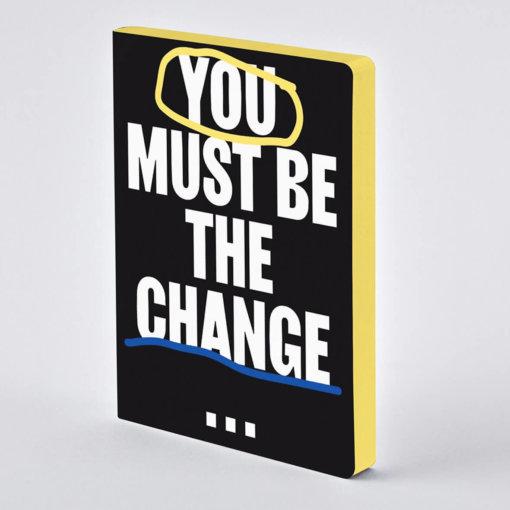 Nuuna notitieboek You Must Be The Change
